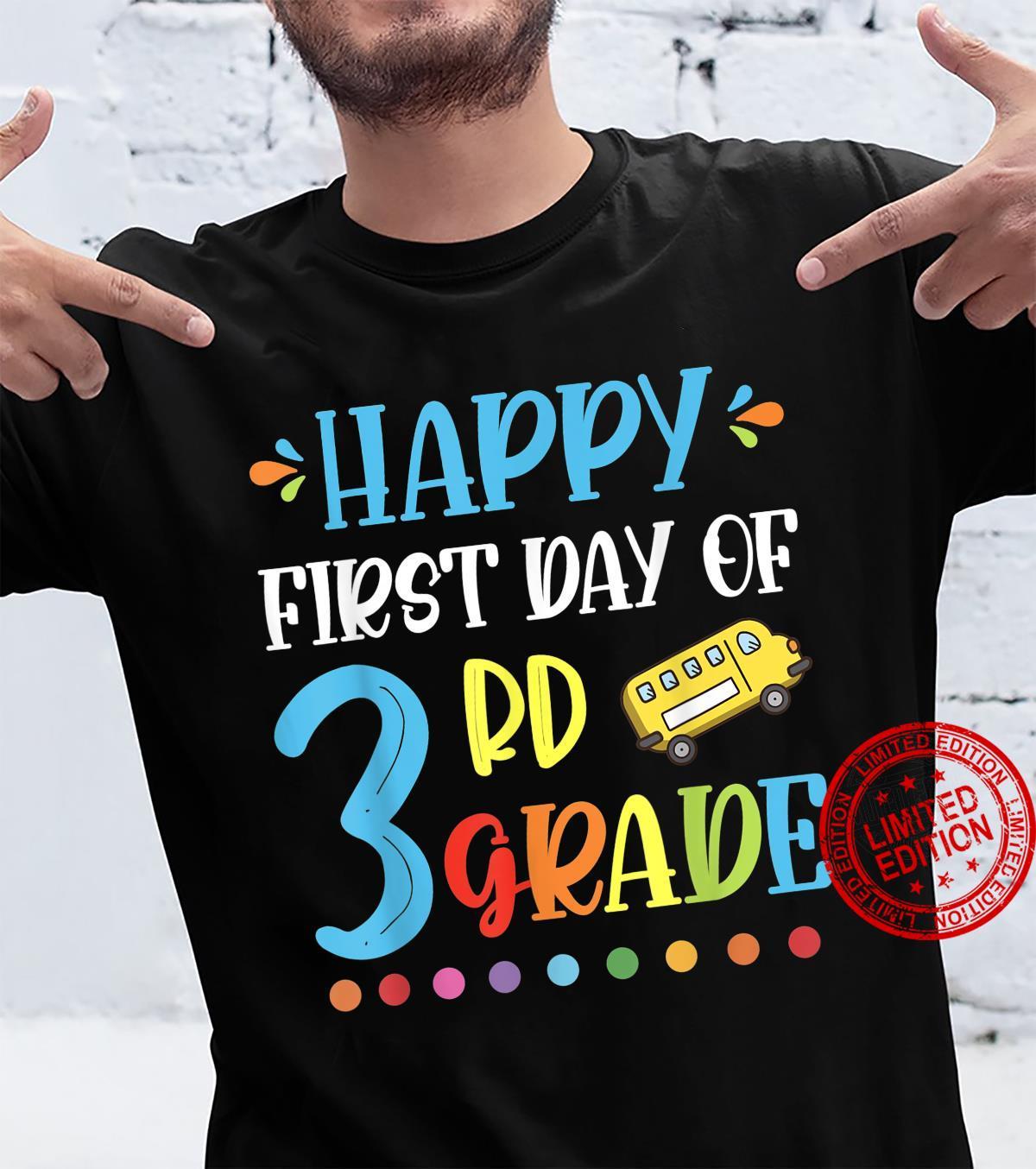 Back To School First Day Of 3rd Grade Teacher Shirt