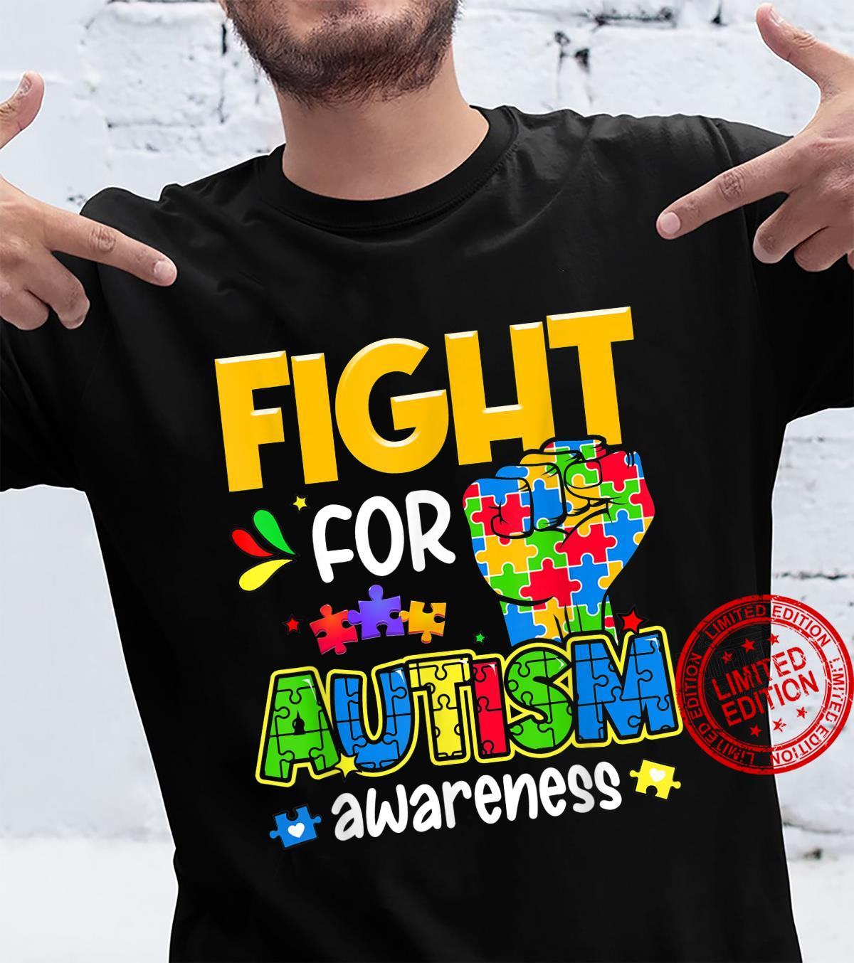 Fight For Autism Awareness Day 2021 Autism Mom Dad Support Shirt
