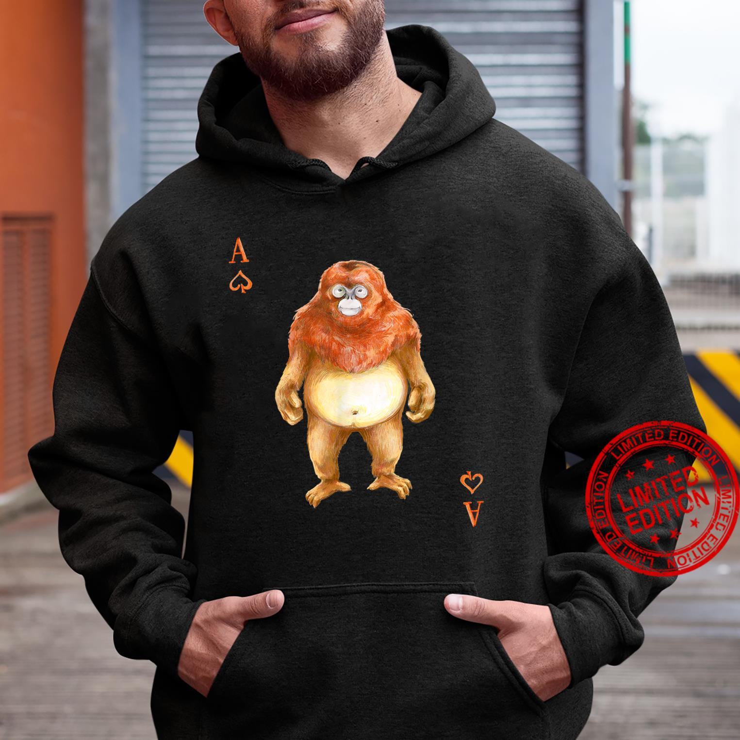 Golden SnubNosed Monkey Playing Card Shirt hoodie