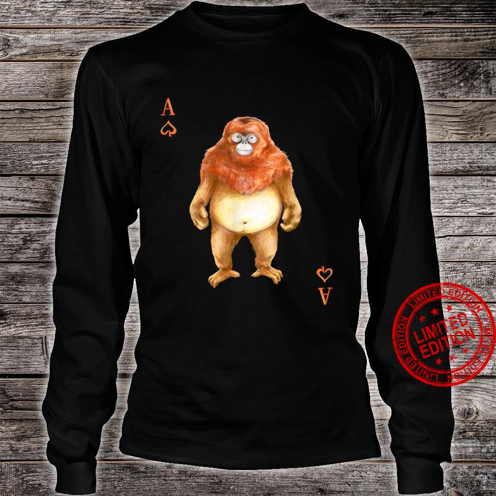 Golden SnubNosed Monkey Playing Card Shirt long sleeved