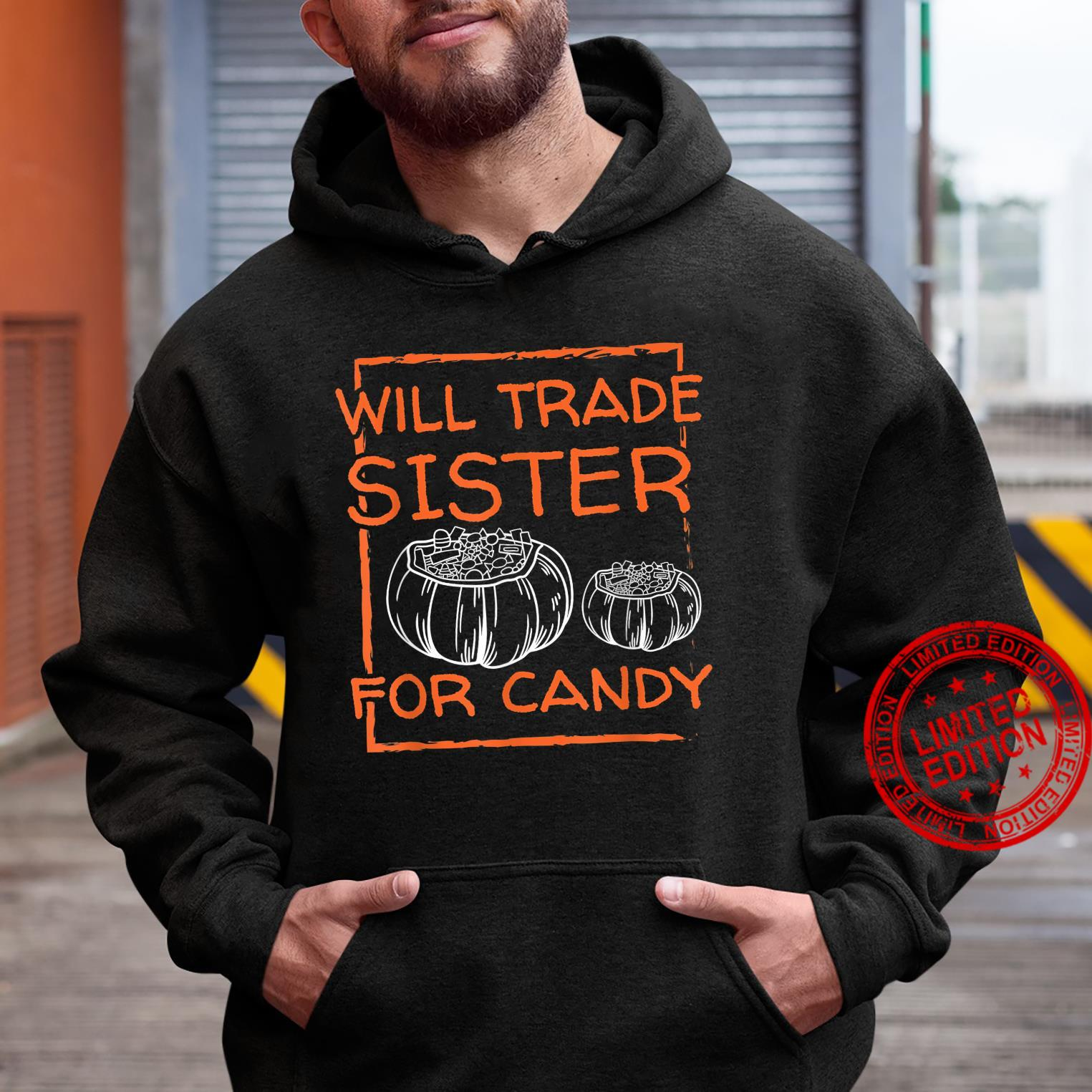 Halloween Scary Night Will TRADE For CANDY Horror Fan Shirt hoodie
