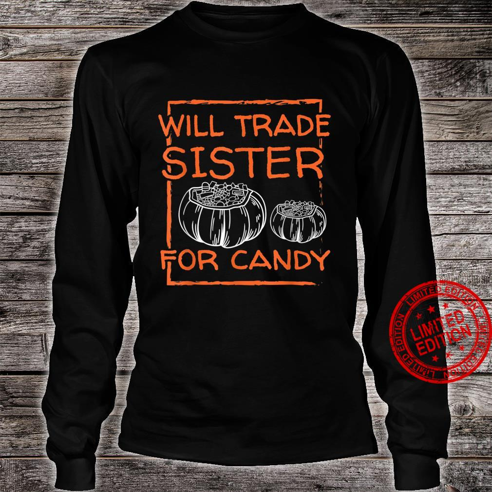 Halloween Scary Night Will TRADE For CANDY Horror Fan Shirt long sleeved