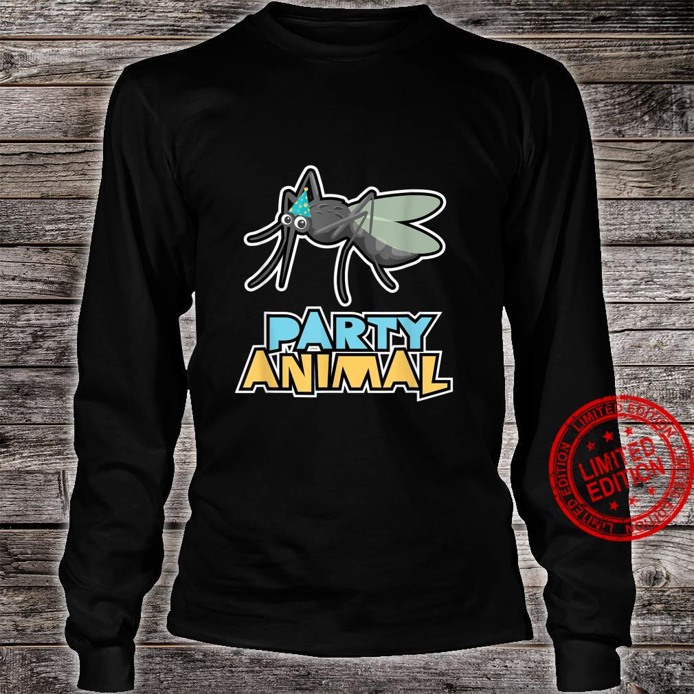 Party Animal Shirt Mosquito Shirt Insect Birthday Shirt long sleeved