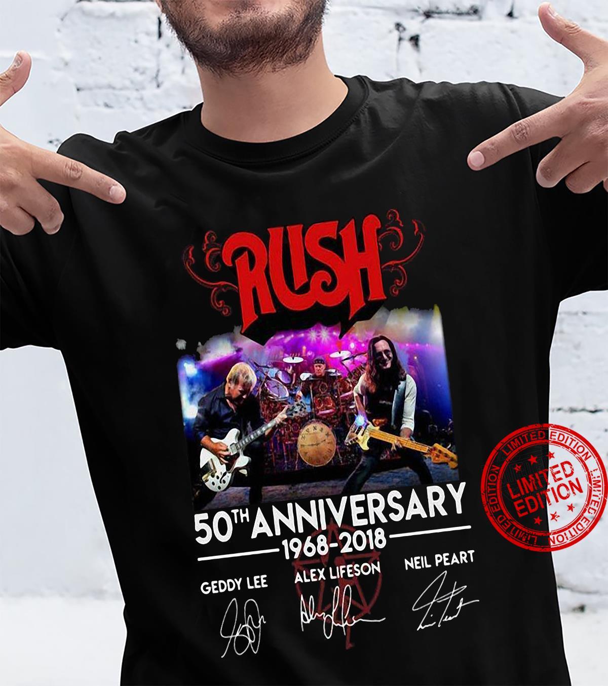 Rush 50th Anniversary 1968-2018 Geddy Lee Alex Lifeson Neil Peart Shirt