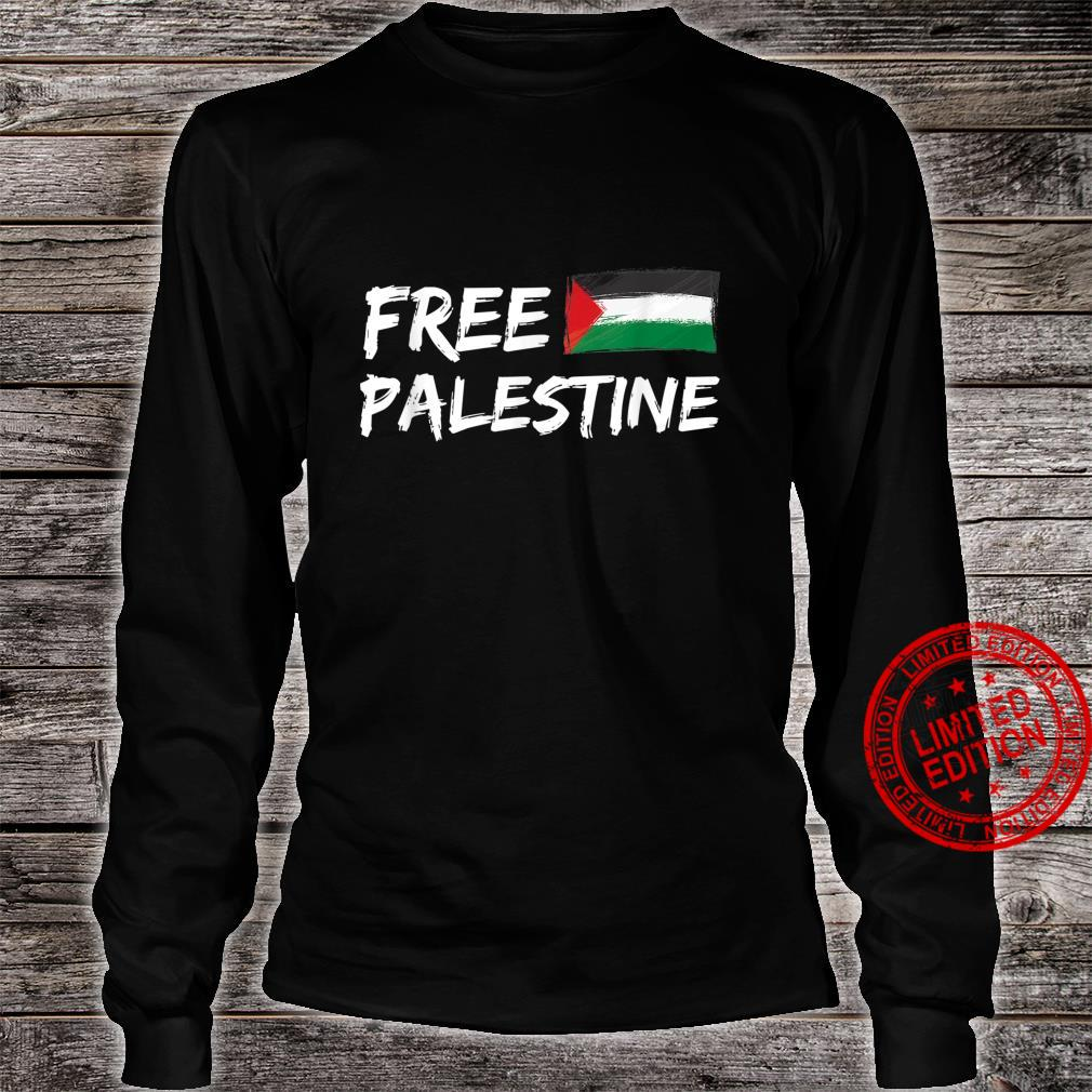 Stand With Palestine Free Palestine Peace Love Flag Shirt long sleeved