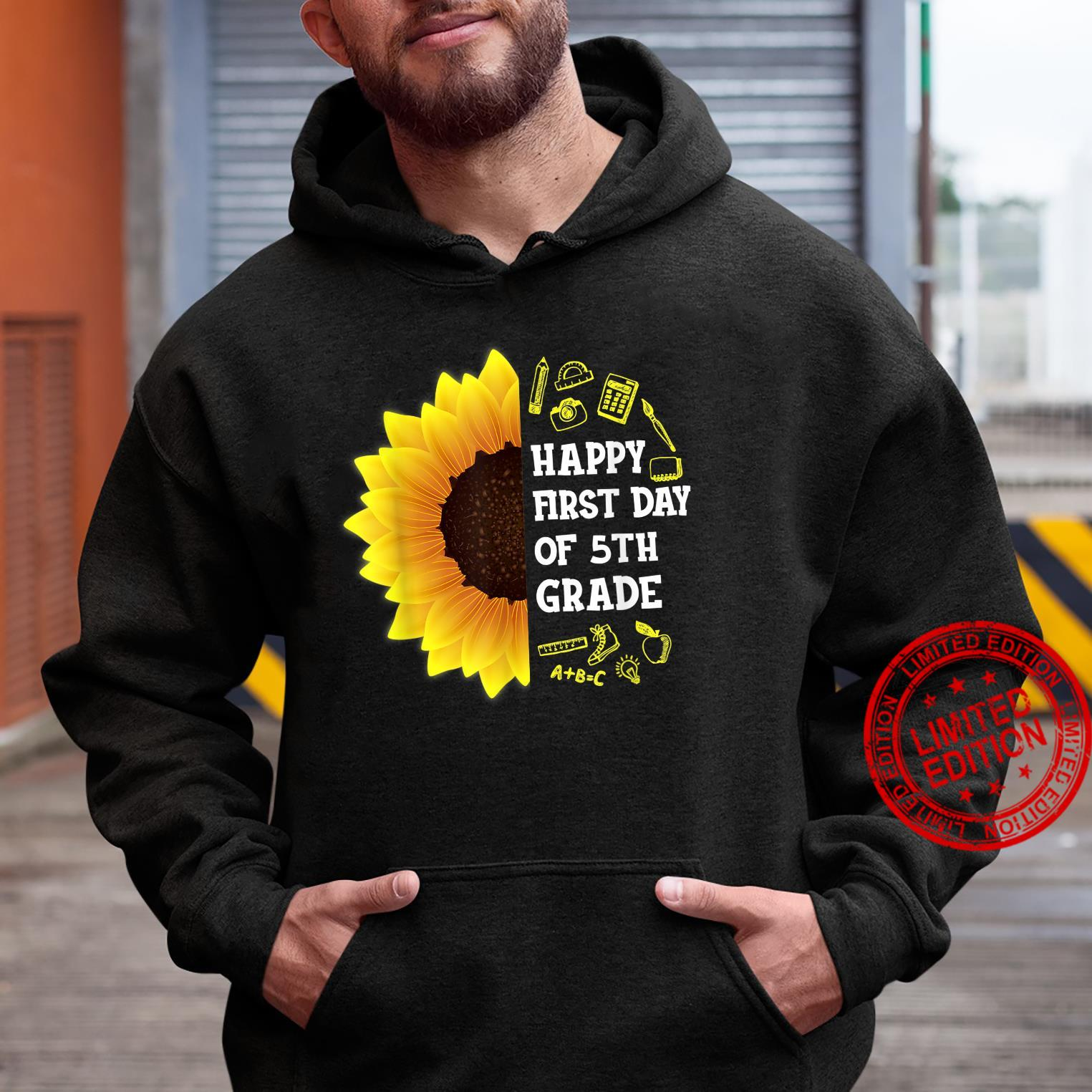 Sunflower Happy First Day Of 5th Grade Back To School Shirt hoodie