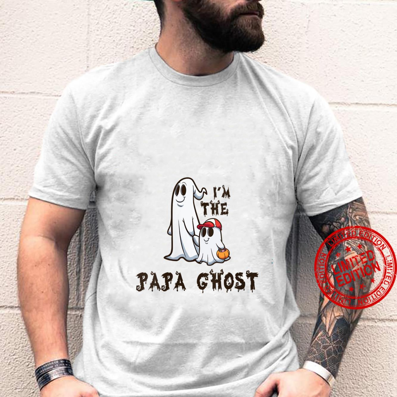 Womens I'm The Papa Ghost for Fathers Halloween Shirt