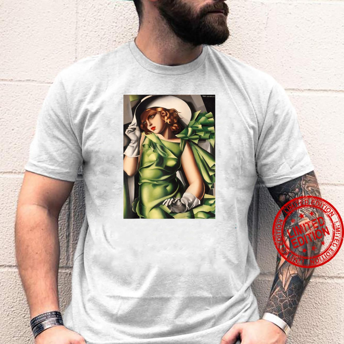 Young Lady With Gloves Painting By Lempicka Shirt