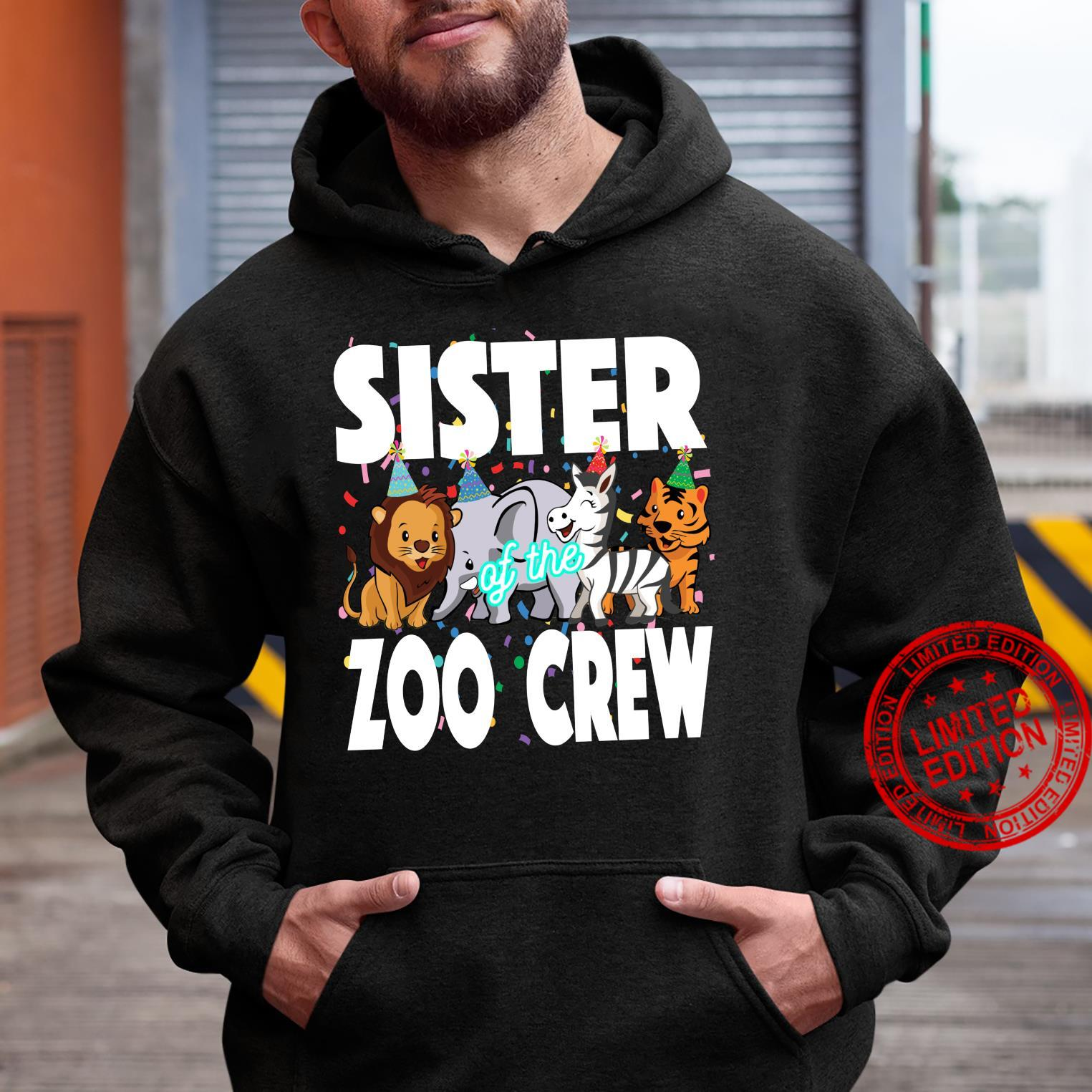 Zoo jungle birthday family costume party theme SISTER Shirt hoodie