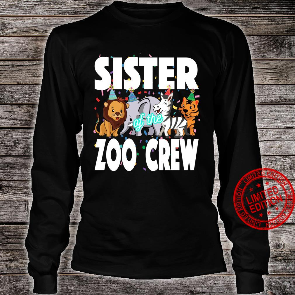 Zoo jungle birthday family costume party theme SISTER Shirt long sleeved