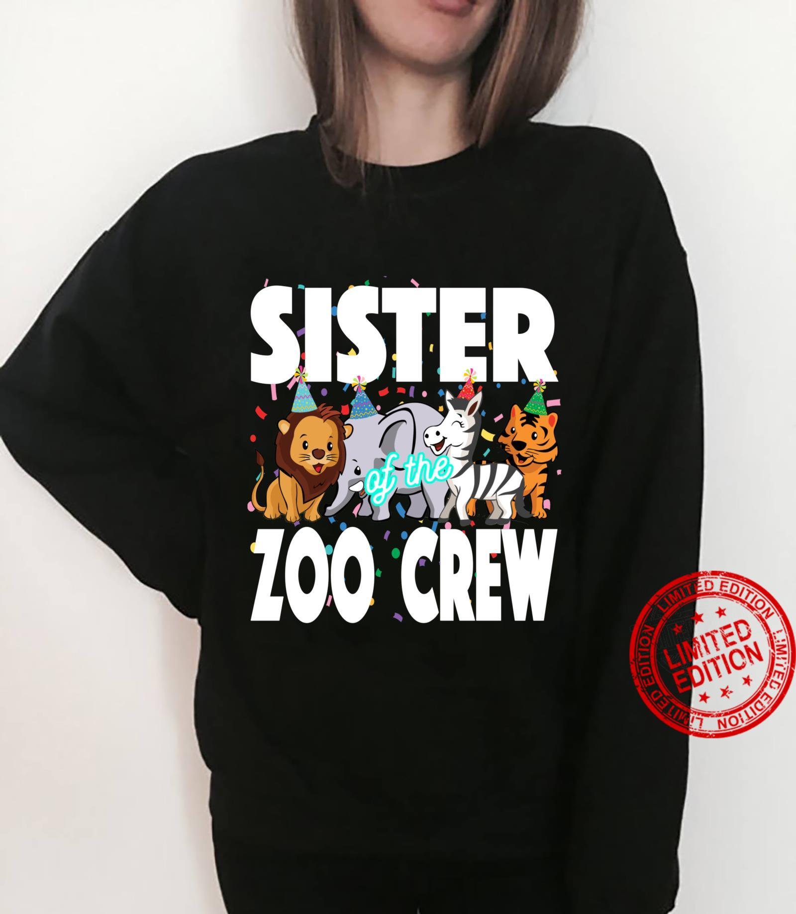 Zoo jungle birthday family costume party theme SISTER Shirt sweater