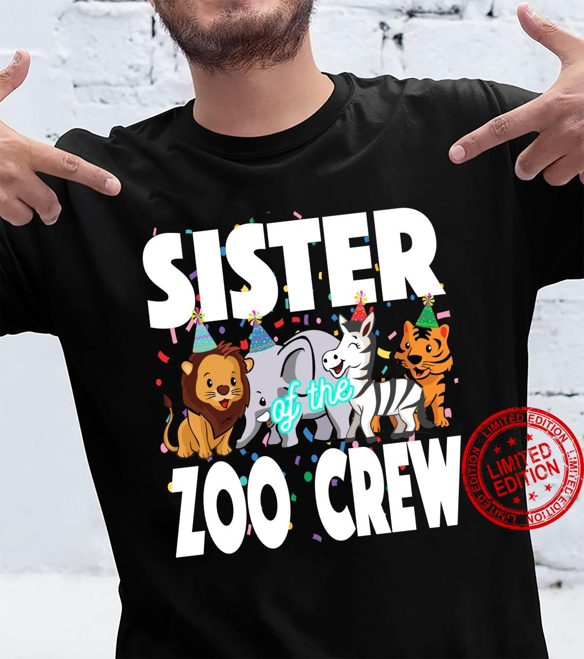 Zoo jungle birthday family costume party theme SISTER Shirt