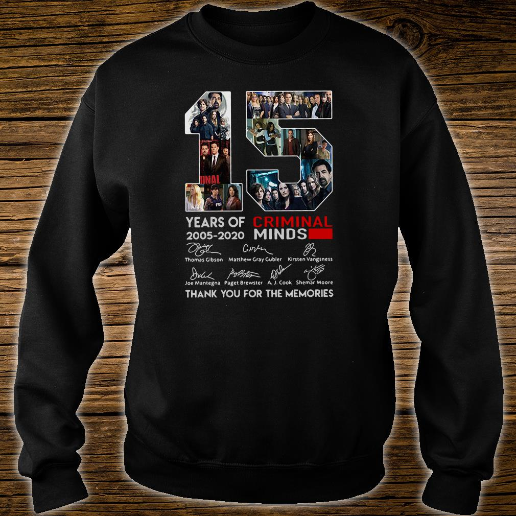 15 years old Criminal Minds 2005-2020 anniversary shirt sweater