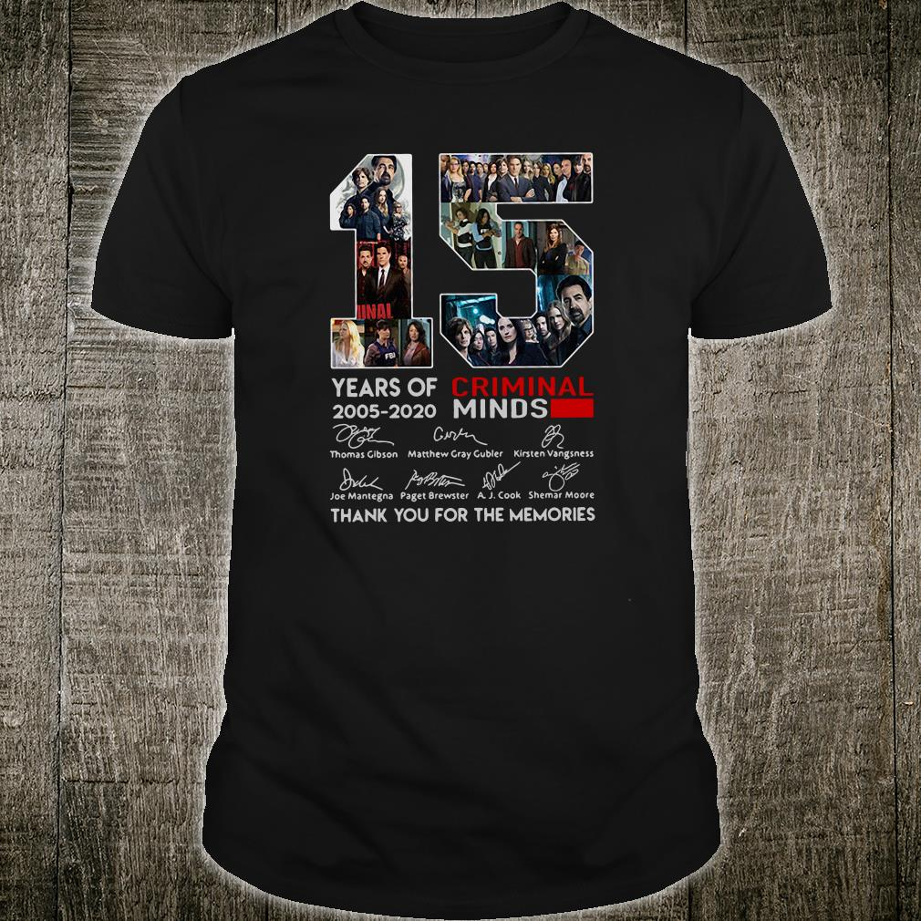 15 years old Criminal Minds 2005-2020 anniversary shirt