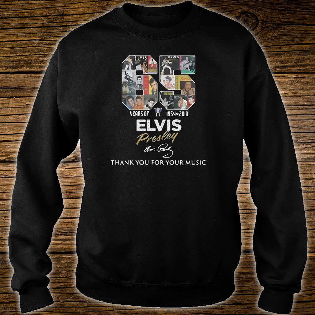 65 years of 1954 2019 Elvis Presley thank you for your music shirt sweater