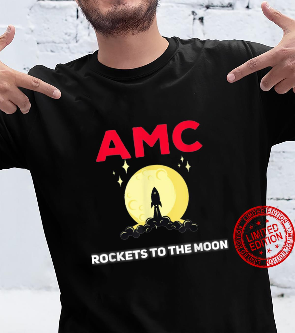 AMC rockets to the Moon wallstreetbetss Shirt