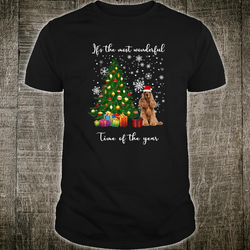 American Cocker Spaniel Dog It's The Most Wonderful Time Of Shirt