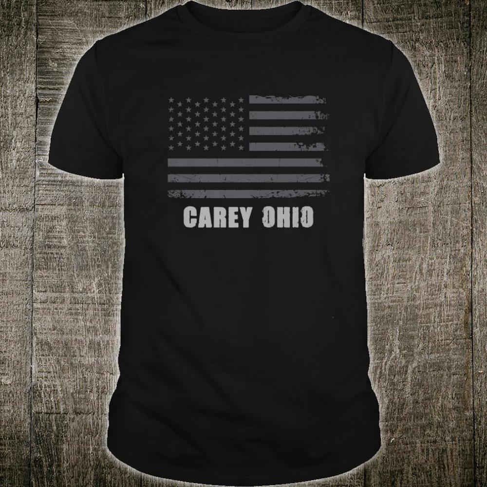 American Flag Carey, Ohio USA Patriotic Souvenir Shirt