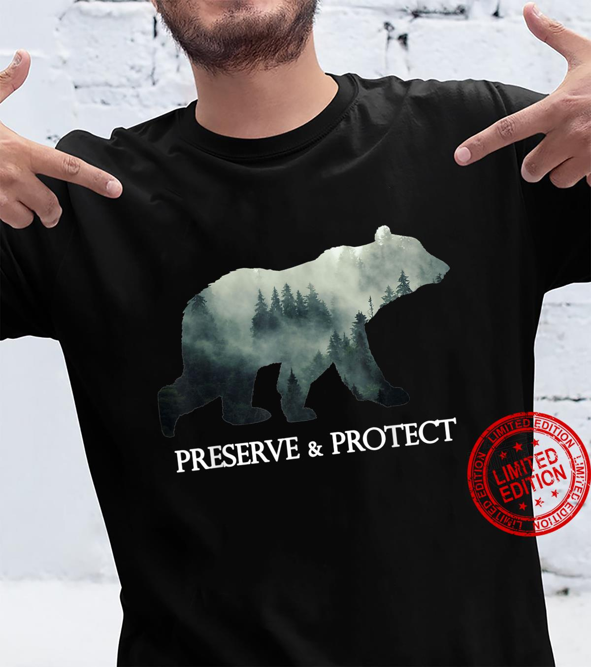 Bear Protect & Preserve Climate Change Environmental Shirt