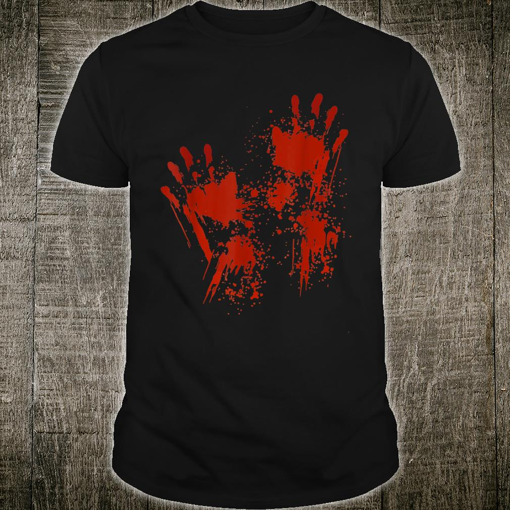 Blood Hands Costume Zombie Outfit Halloween Shirt