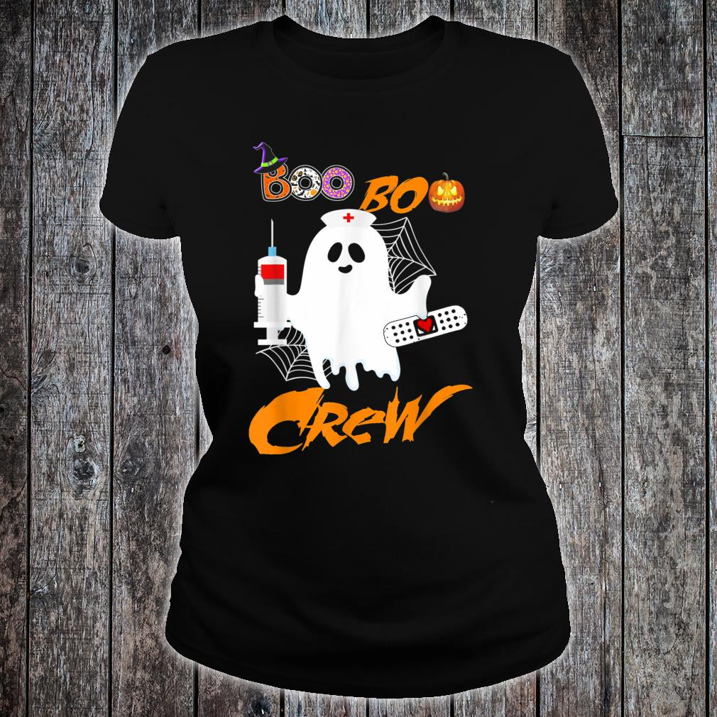Boo Boo Crew Nurse Ghost Halloween Costume Shirt ladies tee