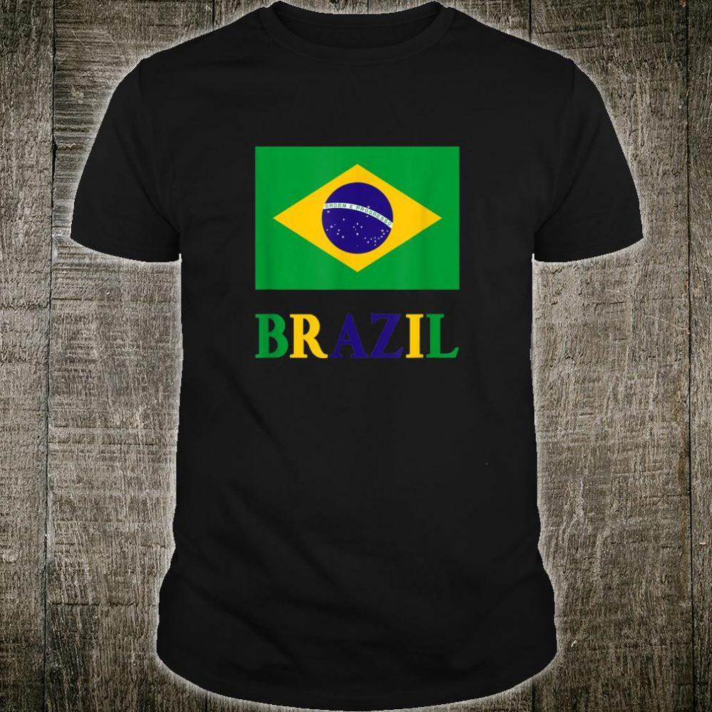 Brazil Flag Bandeira Do Brasil Country Brazilian Shirt