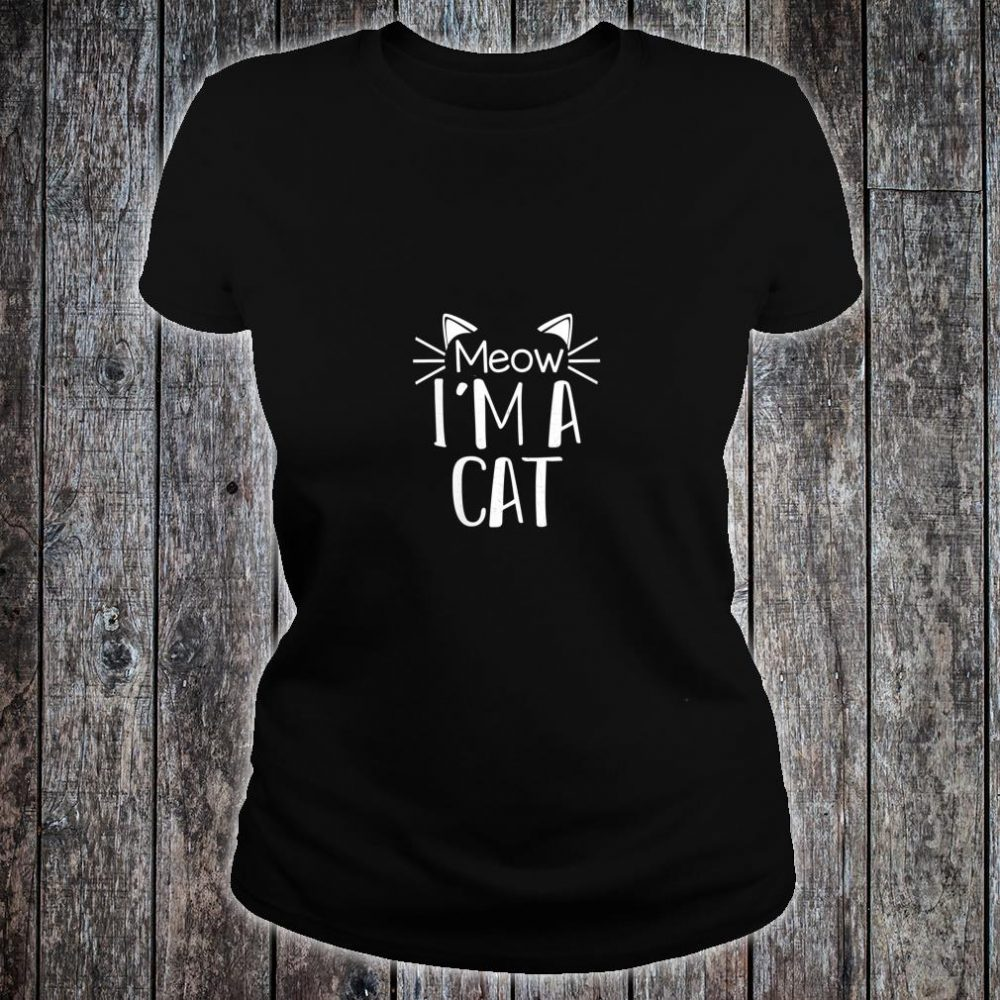 Cat Animal Cute Halloween Costume Shirt ladies tee