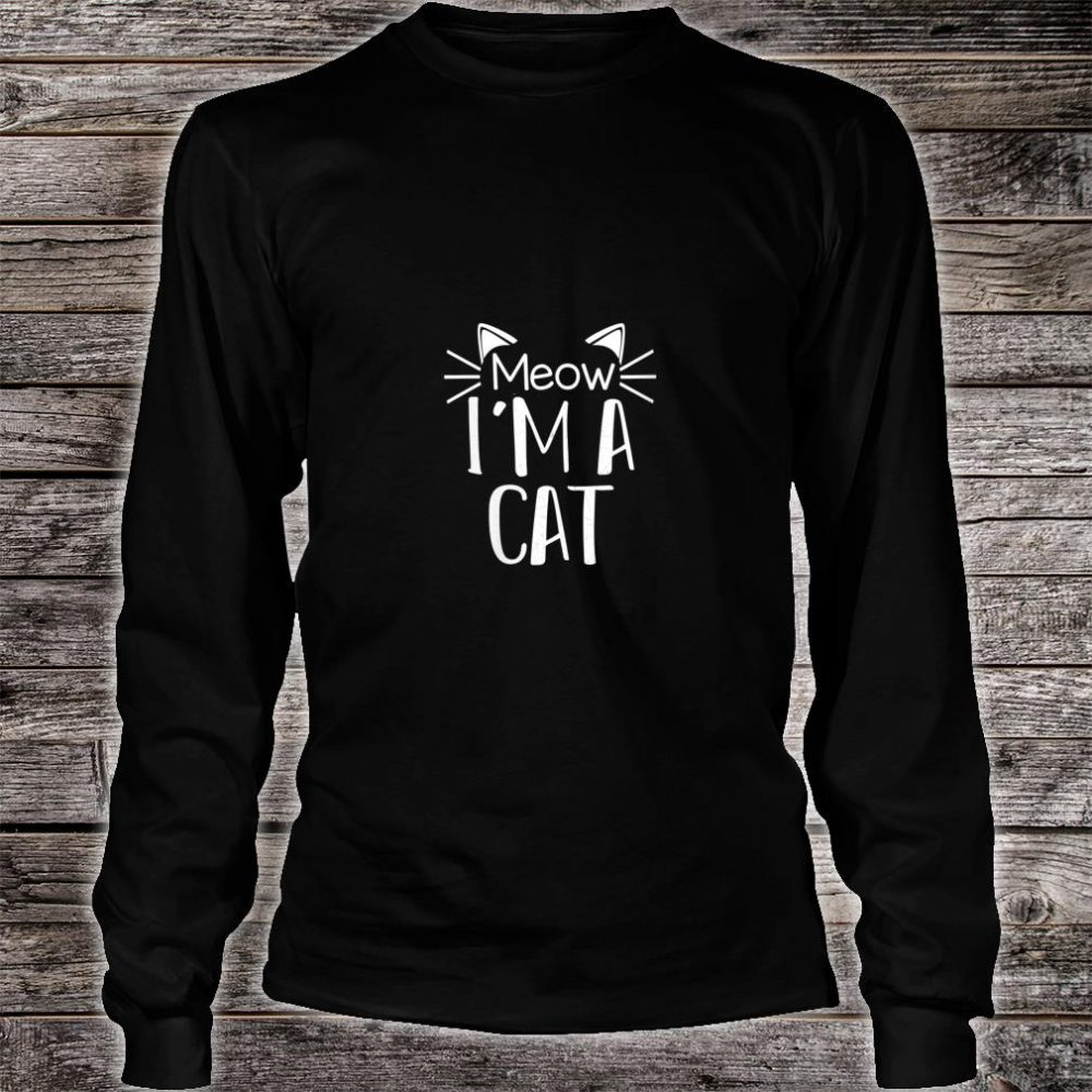 Cat Animal Cute Halloween Costume Shirt long sleeved