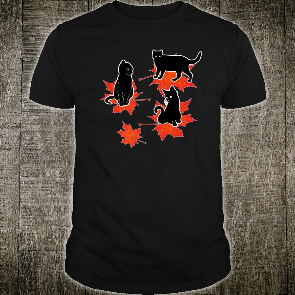 Cats s Clothing Fall Leaves Shirt