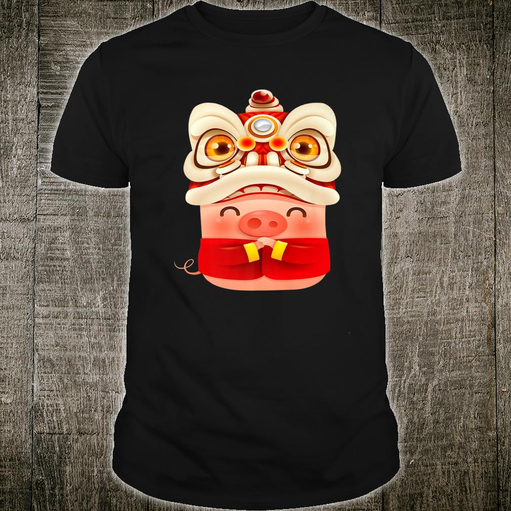 Chinese New 2019 Year Of The Pig Lion Dragon Shirt Shirt