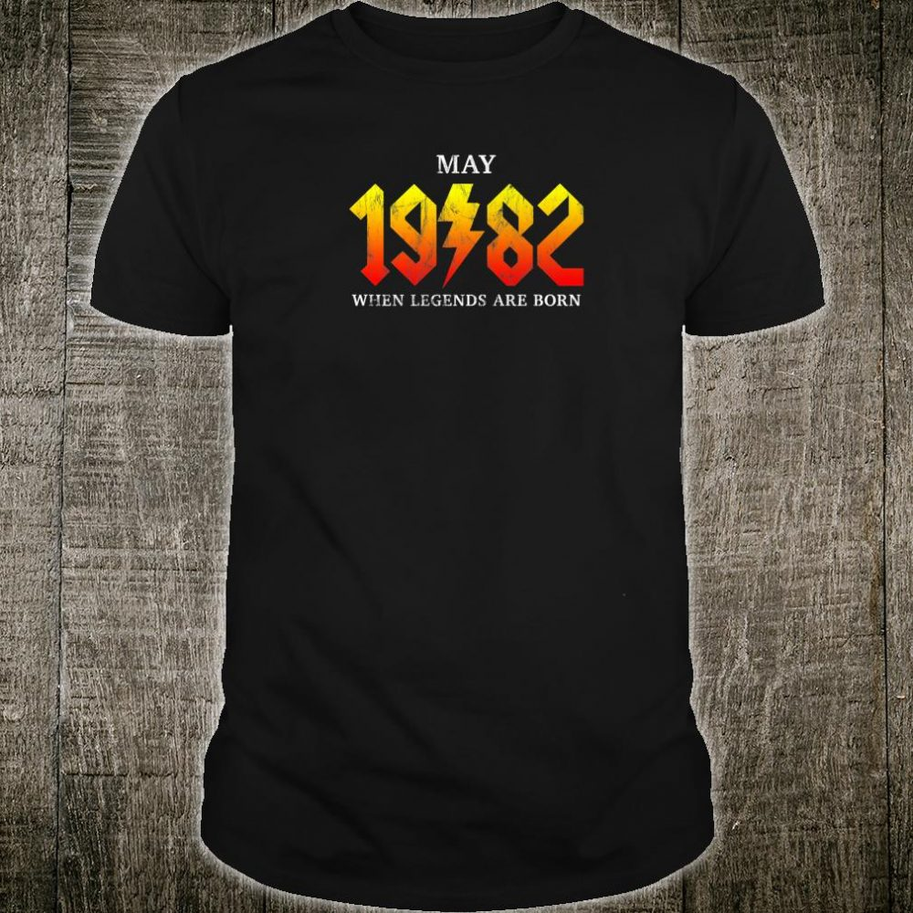 Classic Rock Legend Born In May 1982 Vintage 38th Birthday Shirt