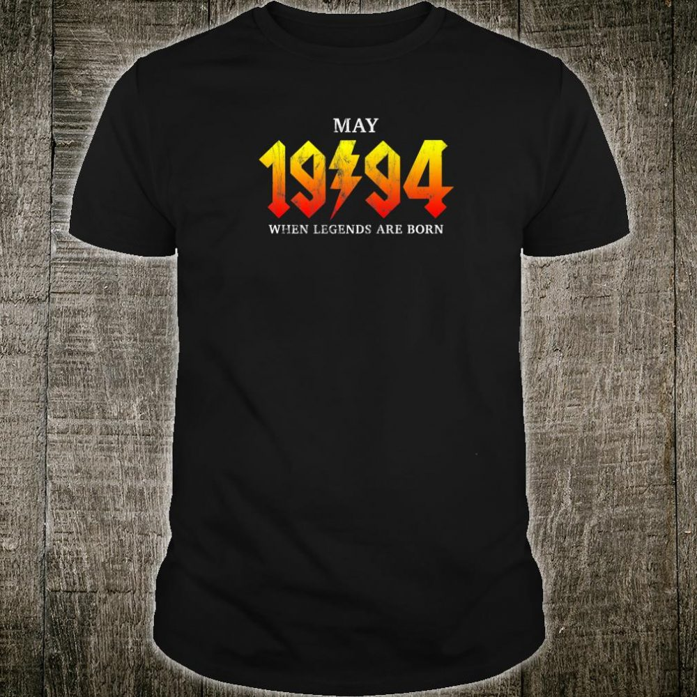 Classic Rock Legend Born In May 1994 Vintage 26th Birthday Shirt