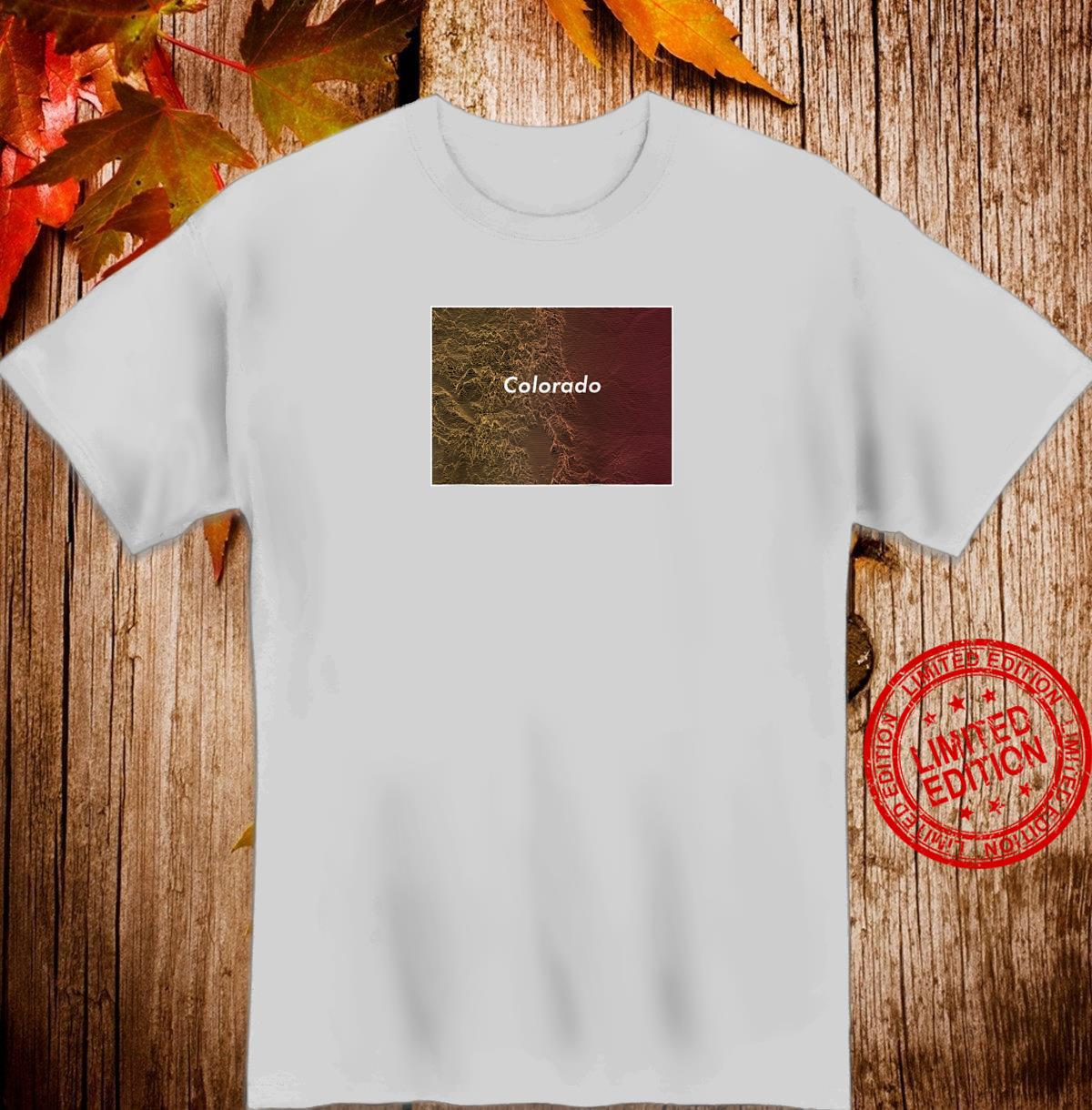 Colorado Topographical Map Mountains & Front Range Line Art Shirt