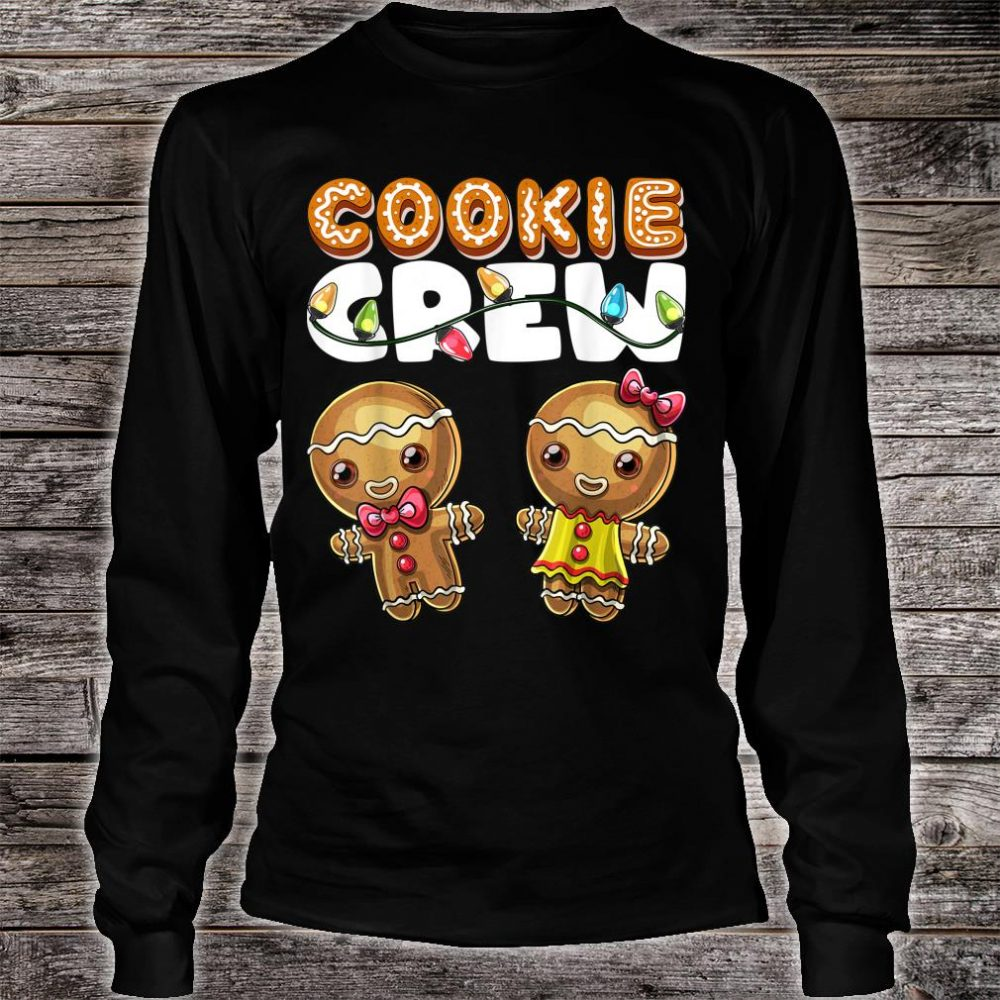 Cookie Crew Gingerbread Christmas Baking Shirt long sleeved