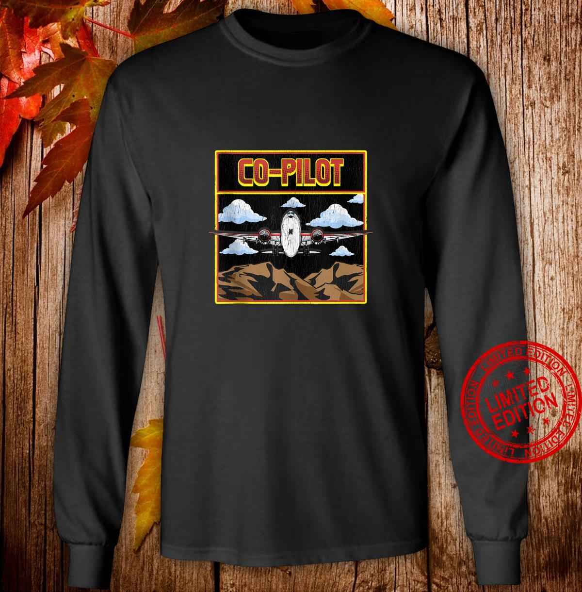 Cute Airplane CoPilot Awesome Copilot Friend Shirt long sleeved
