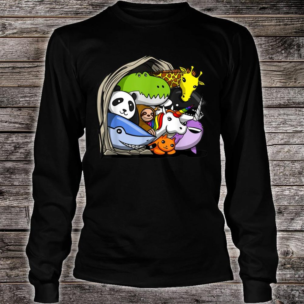Dinosaur Sloth Unicorn Shark Narwhal Panda Giraffe Orca Cat Shirt long sleeved