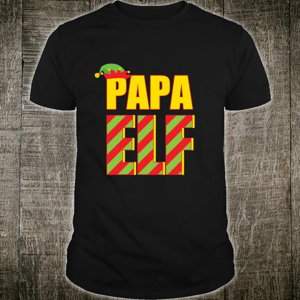 Funny Christmas Dad Elf Family Matching PJ for Daddy Shirt
