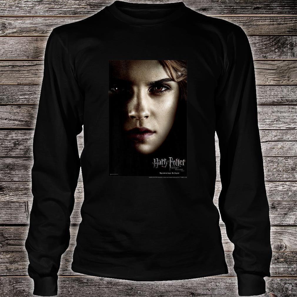 Harry Potter Deathly Hallows Hermione Character Poster Shirt long sleeved