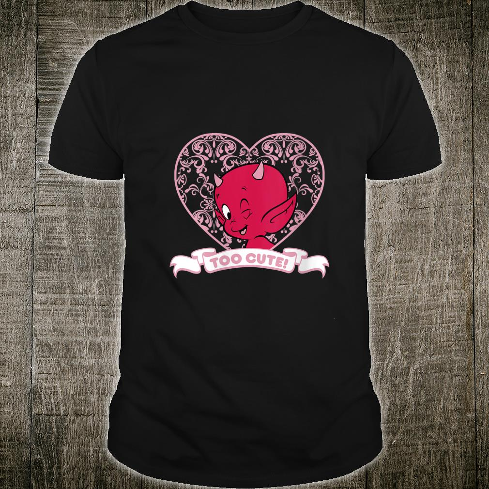 Hot Stuff The Little Devil Too Cute Heart Portrait Shirt