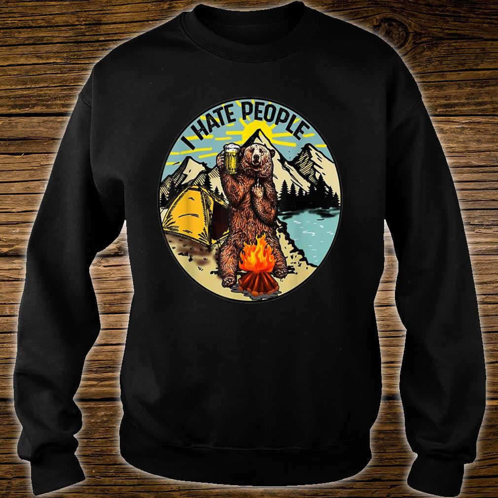 I Hate People Camping Shirt sweater