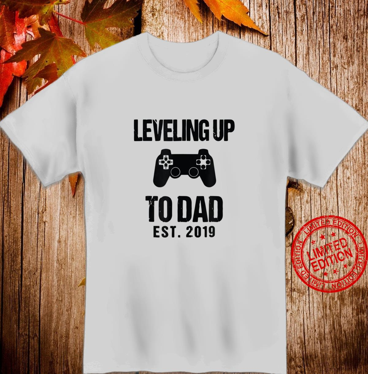 I leveled Up to Daddy New parent Gamer Shirt
