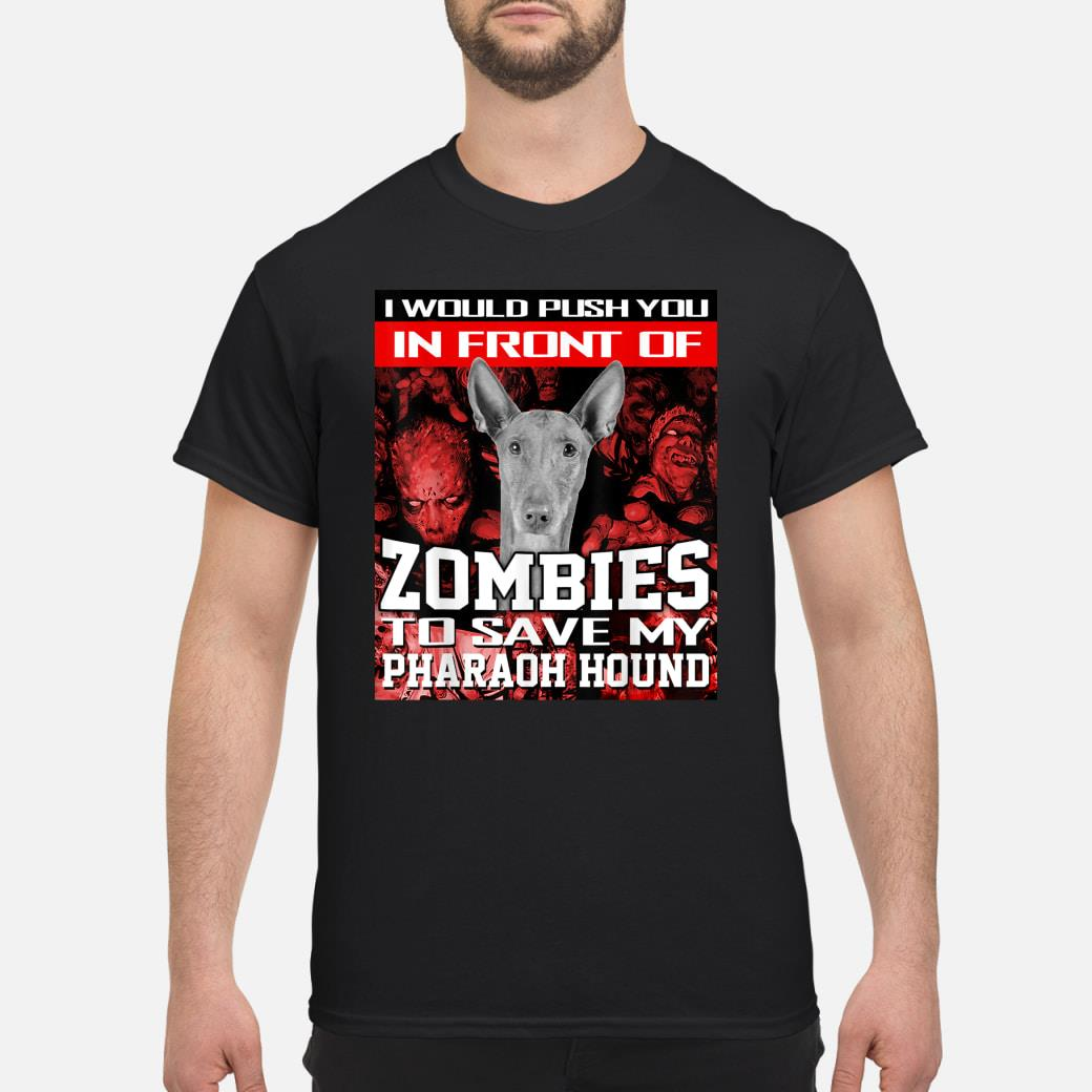 In Front Of Zombies To Save My Pharaoh Hound Dog Halloween Shirt