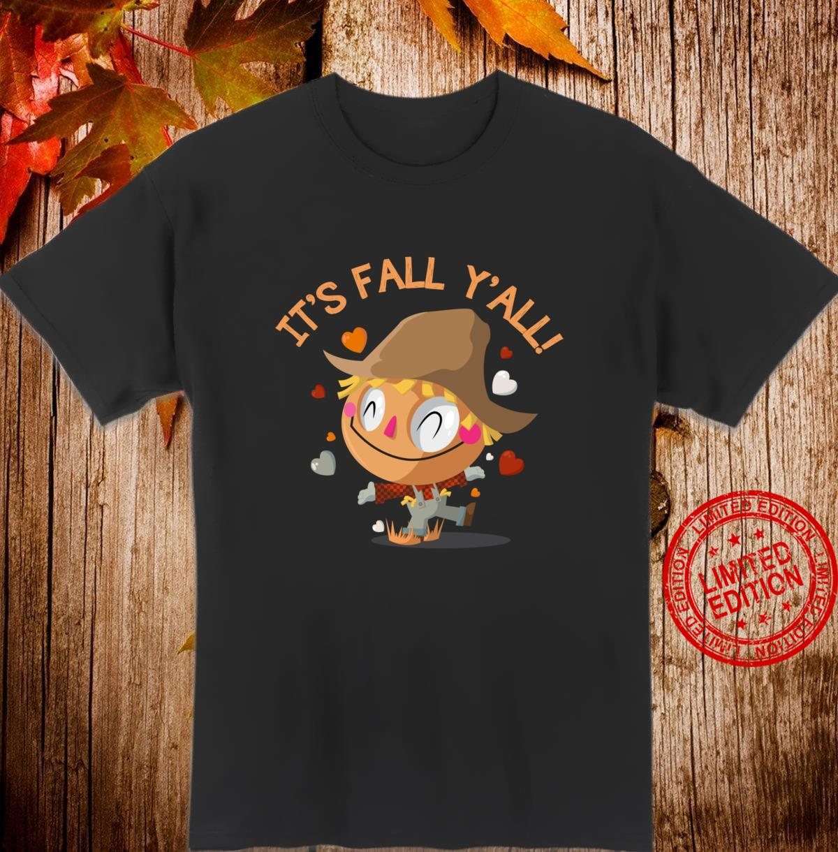 Its Fall Yall Cute And Scarecrow Halloween Shirt