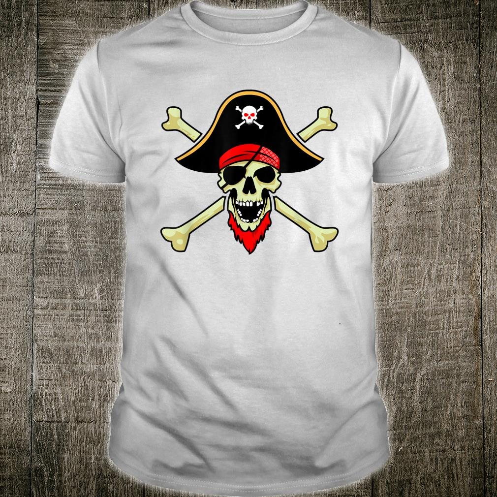 Jolly Roger Pirate Flag Skull Crossbones Buccaneer Corsair Shirt