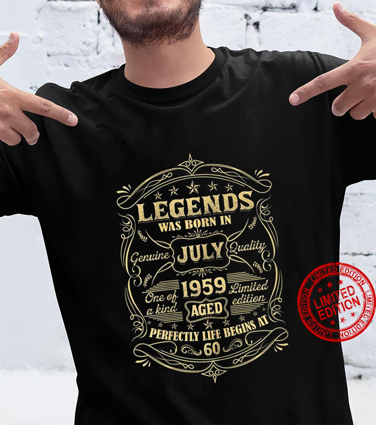 Legends Was Born In July 1959 Aged Perfectly Life Begins At 60 hoodie
