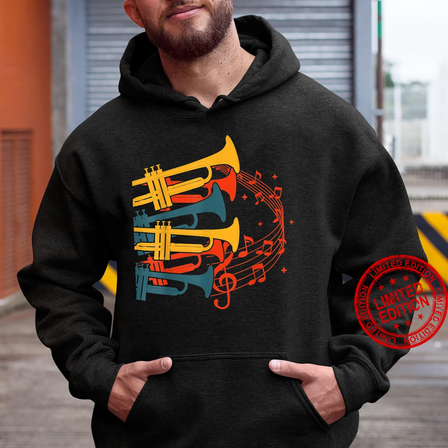 Musical Instrument Retro Trumpet Shirt hoodie