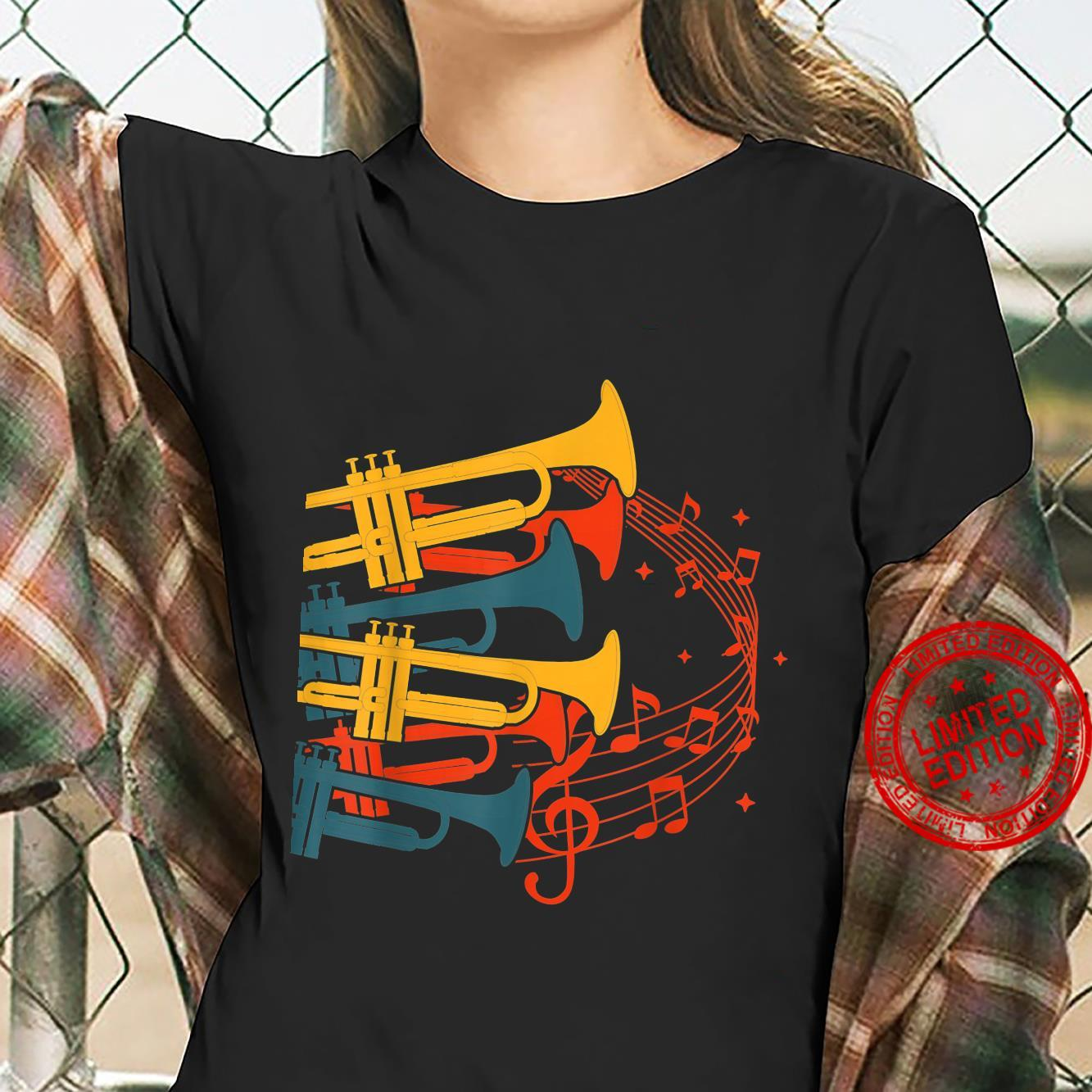 Musical Instrument Retro Trumpet Shirt ladies tee