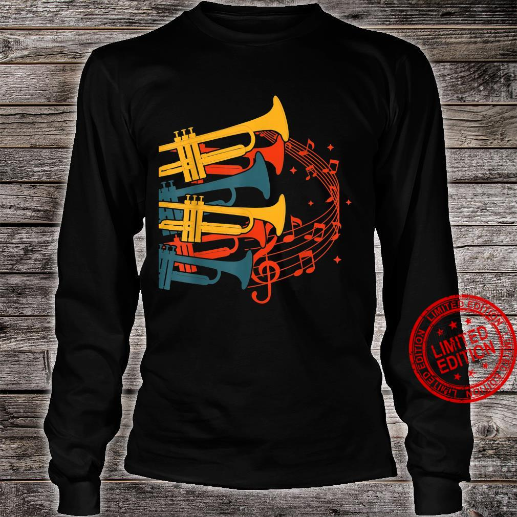 Musical Instrument Retro Trumpet Shirt long sleeved