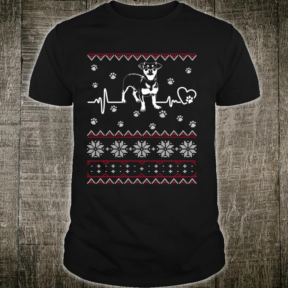 My Chiweenie Heartbeat for Christmas Shirt