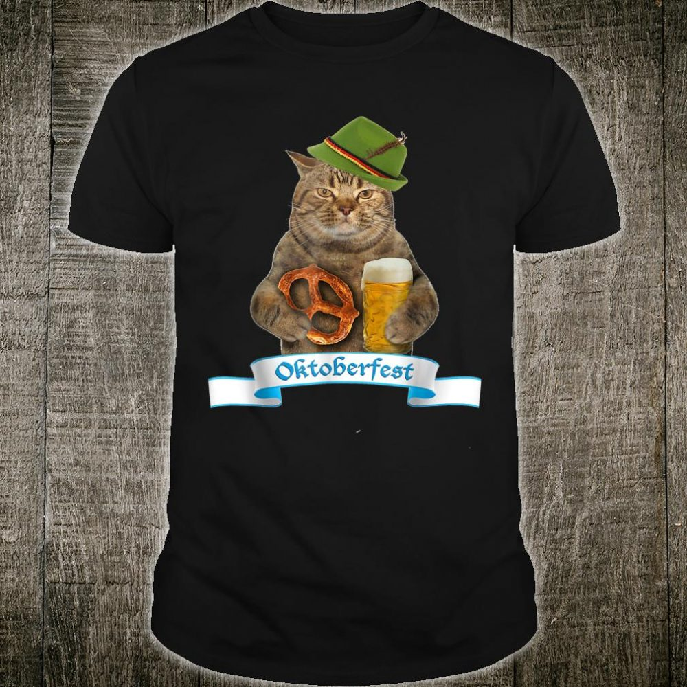 Oktoberfest 2019 Flag Cat German Beer Shirt